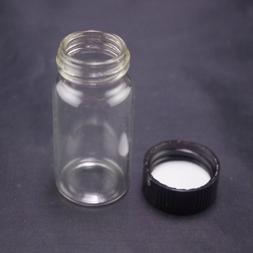 lot5 20ml Sample bottle clear glass screw top