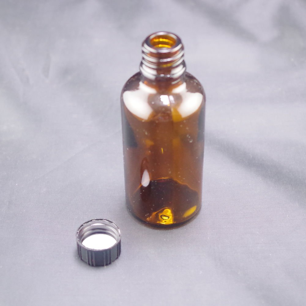 lot8 50ml Sample bottle brown glass screw top