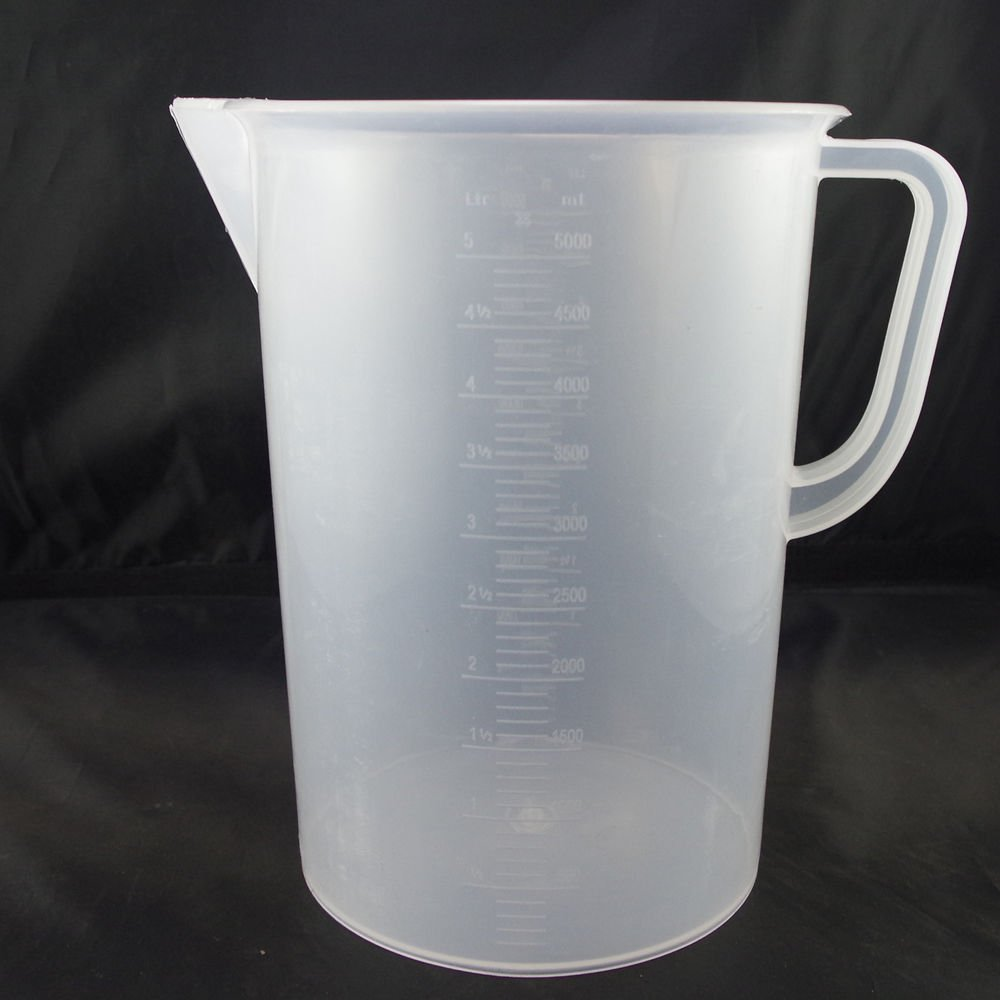 lot2 5000ml plastic measuring cup graduated with handle