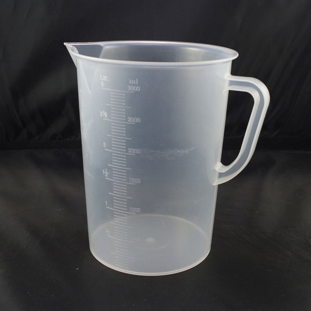 lot2 3000ml plastic measuring cup graduated with handle