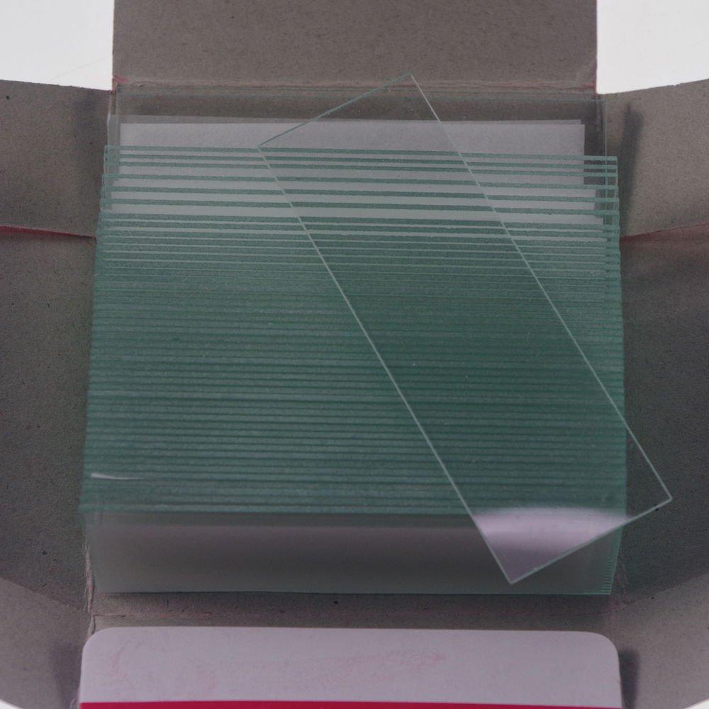 50pcs microscope micro slides glass 25.4mmx76.2mm clear