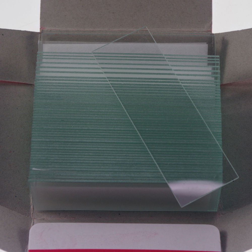 100pcs microscope micro slides glass 25.4mmx76.2mm clear