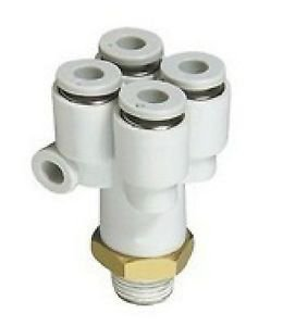 (5) Tube Push In Reducer Connector Double Branch Y Union Replace SMC KQ2UD04-01S
