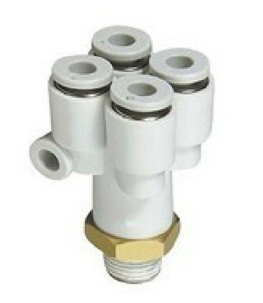 (5) Tube Push In Reducer Connector Double Branch Y Union Replace SMC KQ2UD04-02S