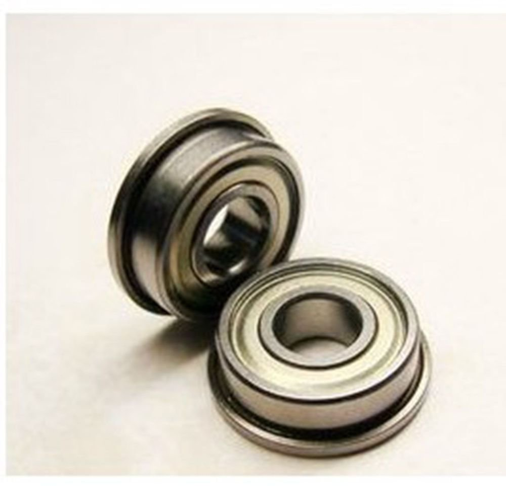 (2) 12 x 21 x 5mm SF6801ZZ Stainless Steel Shielded Flanged Model Flange Bearing