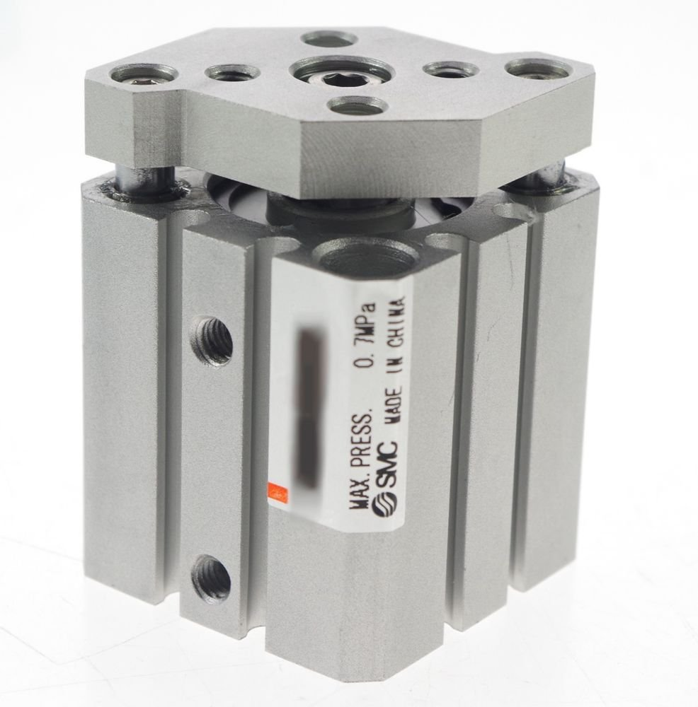 SMC Type CQMB32-10 Compact Cylinder Guide Rod Type Double Acting Through-holes