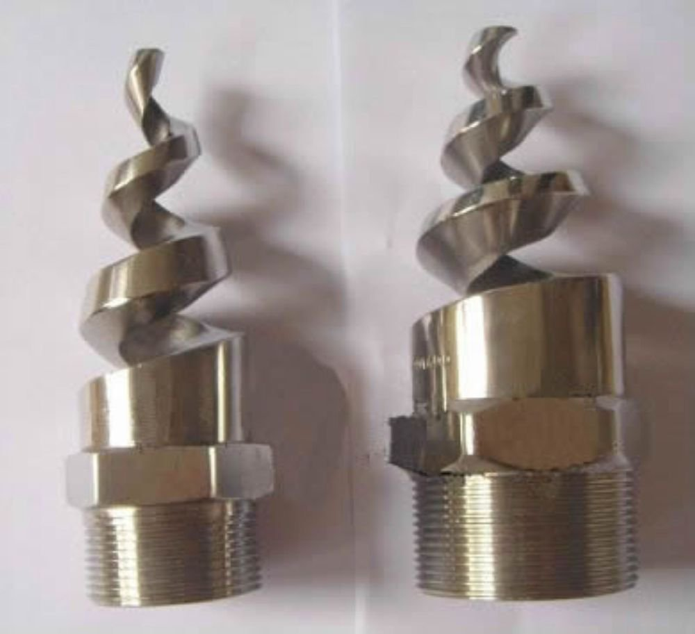 """(1) 316L Stainless Steel 3/4"""" Spiral Spray Nozzle desulfurization washer nozzle"""