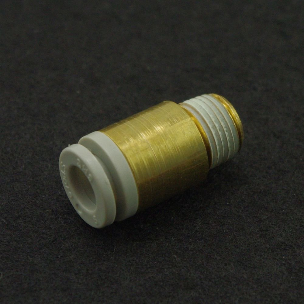 """(5) One Touch Hex Socket Male Connector 16mm 3/8"""" thread Replace SMC KQ2S16-03S"""