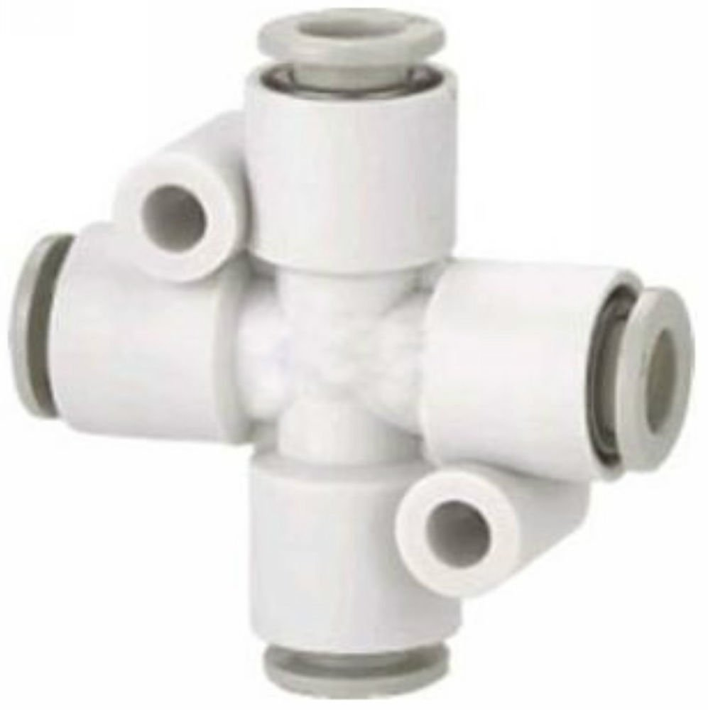 �5� Tube Fittings Push In Connector Cross Union 4mm Replace SMC KQ2TW04-00