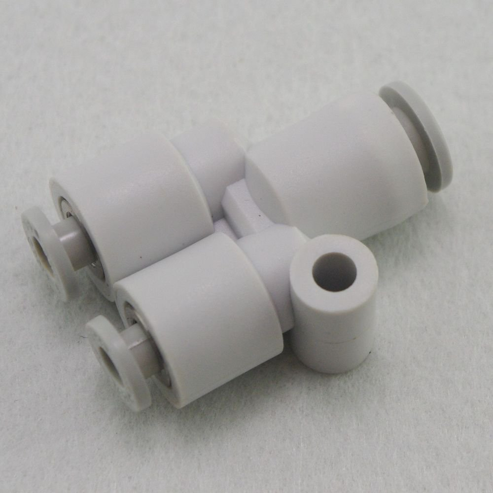 (5) Tube Fittings Push In Reducer Connector Union Y Replace SMC KQ2U08-10