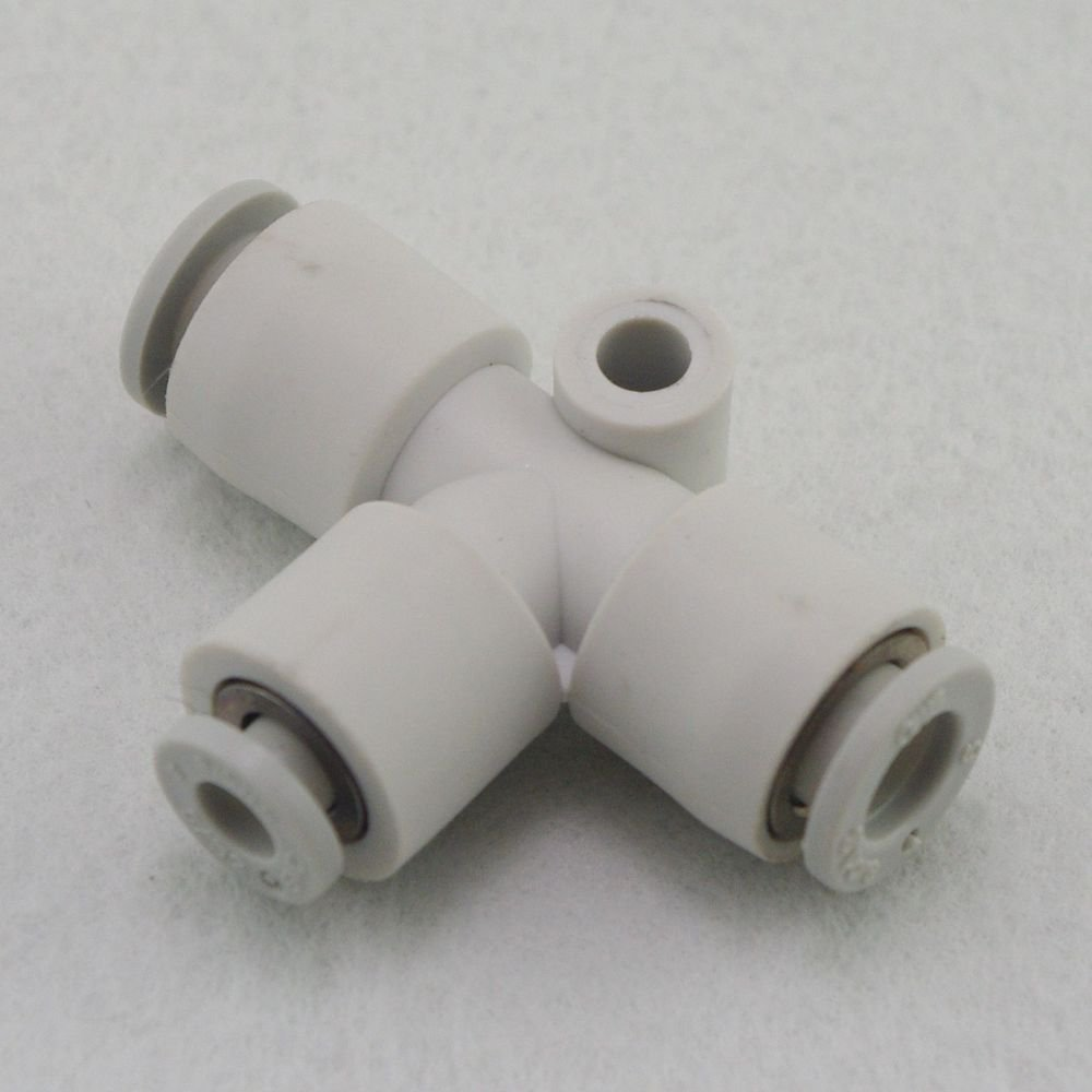 (5) Tube Fittings Push In Reducer Connector Union Tee Replace SMC KQ2T12-10