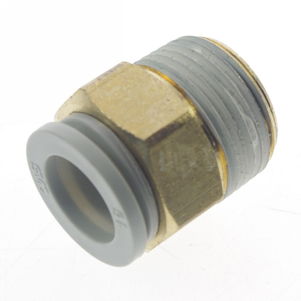 (5) One Touch Brass Male Tube Straight Union Connector Replace SMC KQ2H16-06S