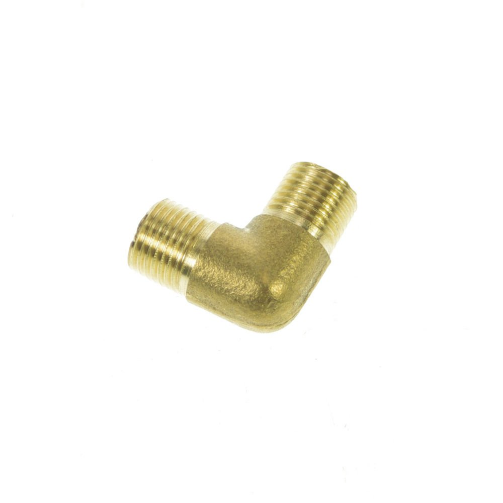"5PCS 1/8"" BSPP Connection 90Degree Elbow Male Pipe Brass Adapter Coupler"