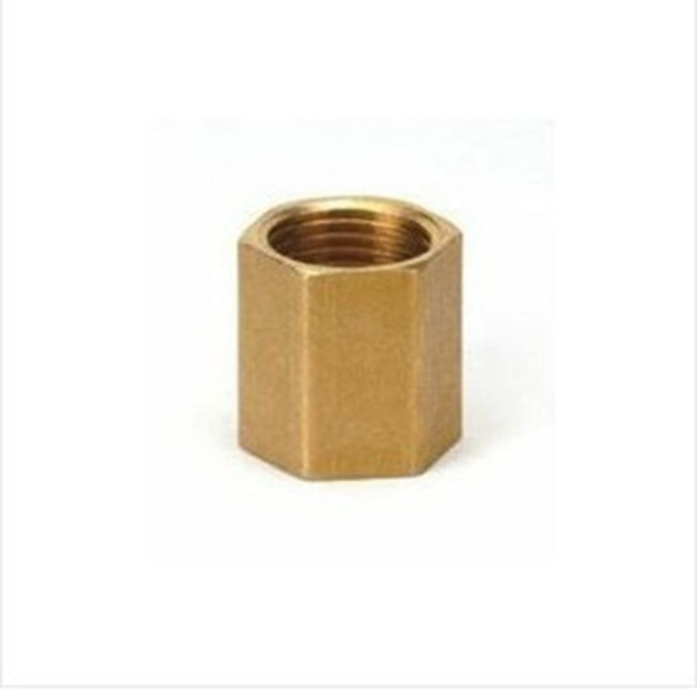 "2PCS 1/4"" BSPP Connection Female Brass Straight Adapter Coupler"