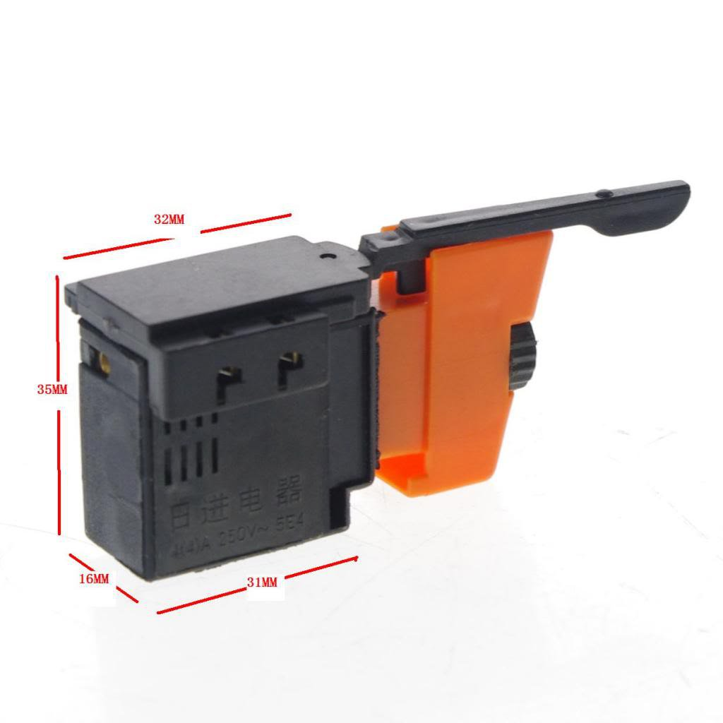 250V Lock on Power Tool Electric Hand Drill Speed Control Trigger Switch