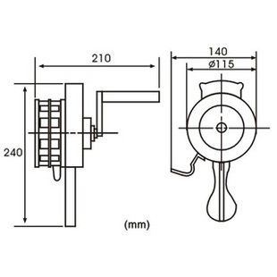 mini Hand crank operated emergency alarm siren loud110db ABS Free shipping