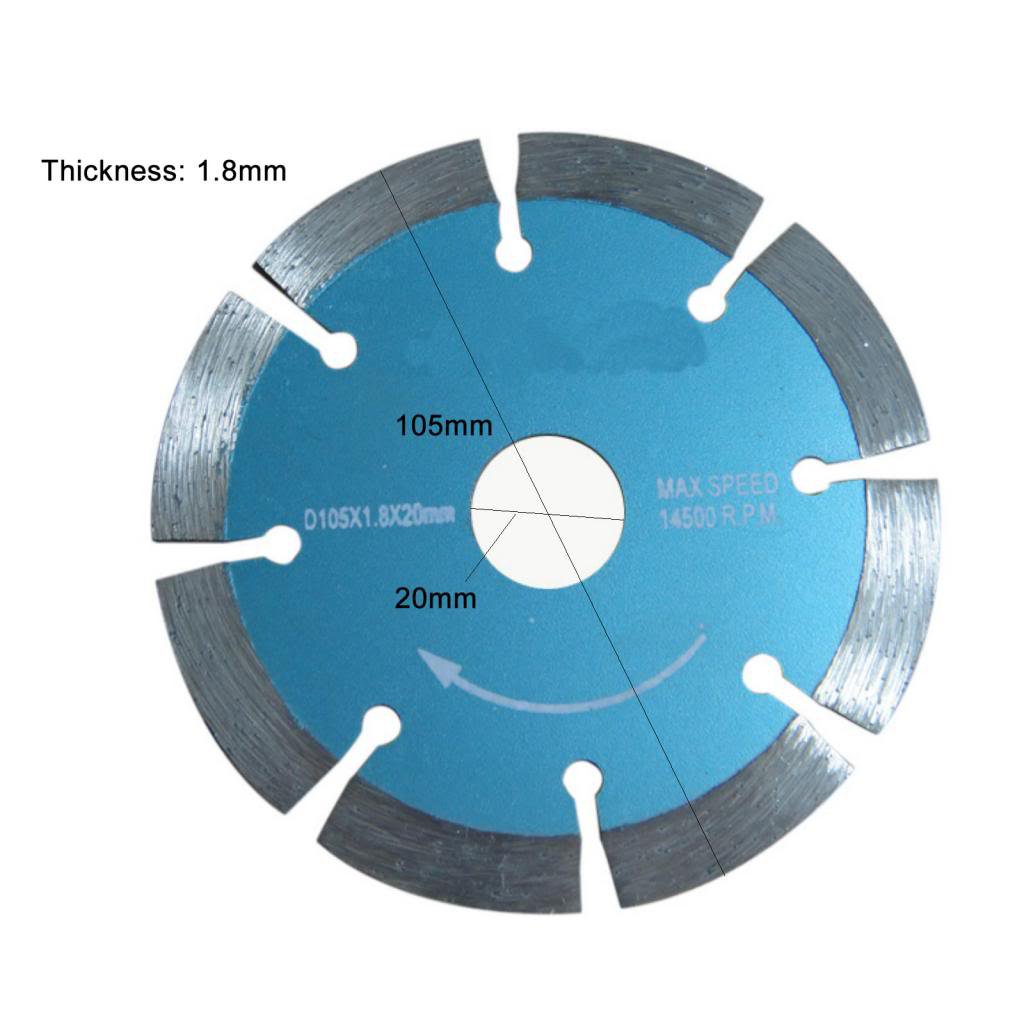 105*1.8*20 mm Diamond saw blade Cutting marble, granite tile Max speed 14500 RPM