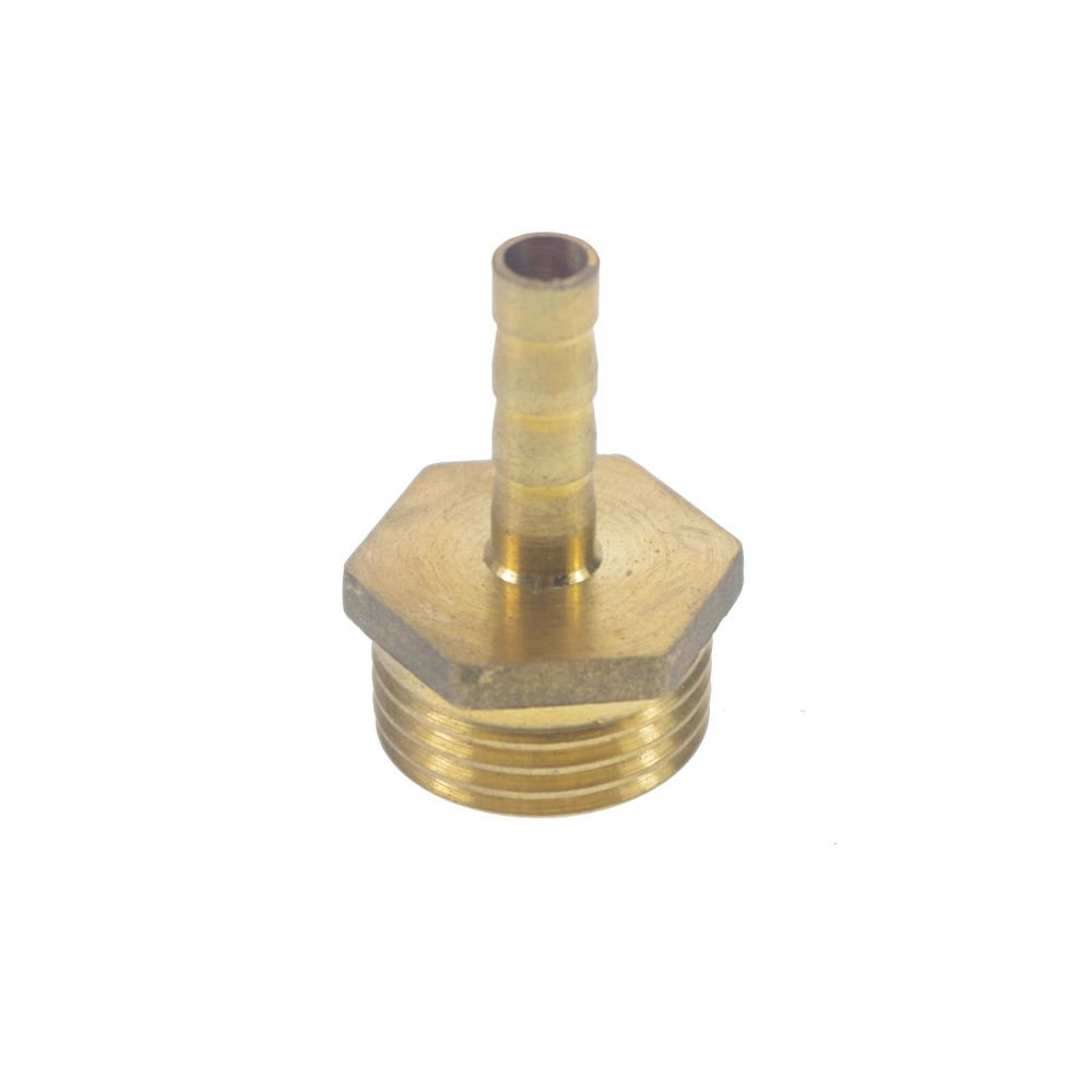 """2pcs 1/2"""" BSPP Connection Male-6mm Barb Hose Brass Adapter Coupler Connector"""