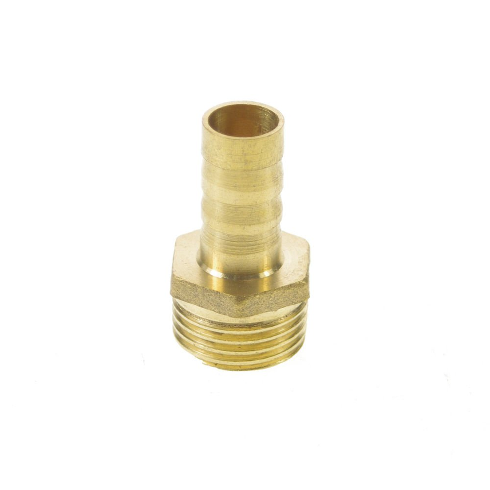"""2PCS 1/2"""" BSPP Connection Male-12mm barbed Hose Brass Pipe Adapter Coupler"""