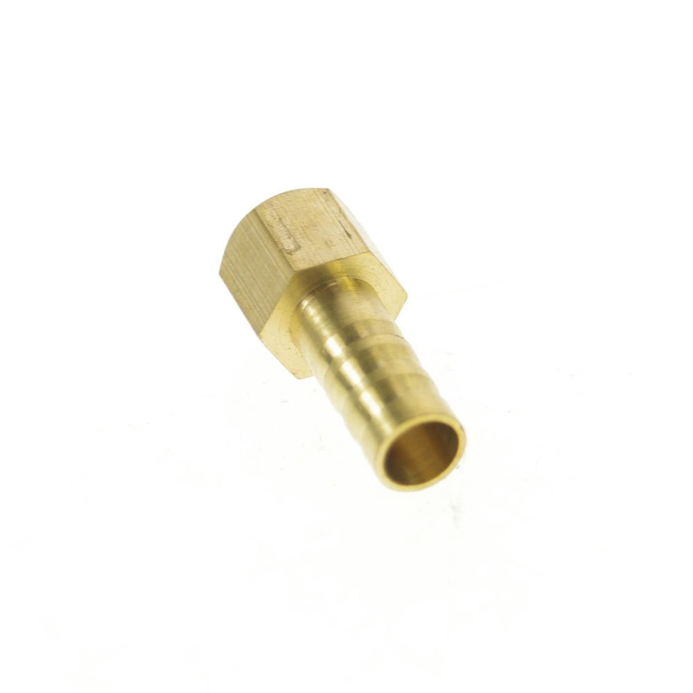 """5pcs 1/8"""" BSPP Connect Female-8mm barbed Hose Brass Pipe Connector Adapter"""