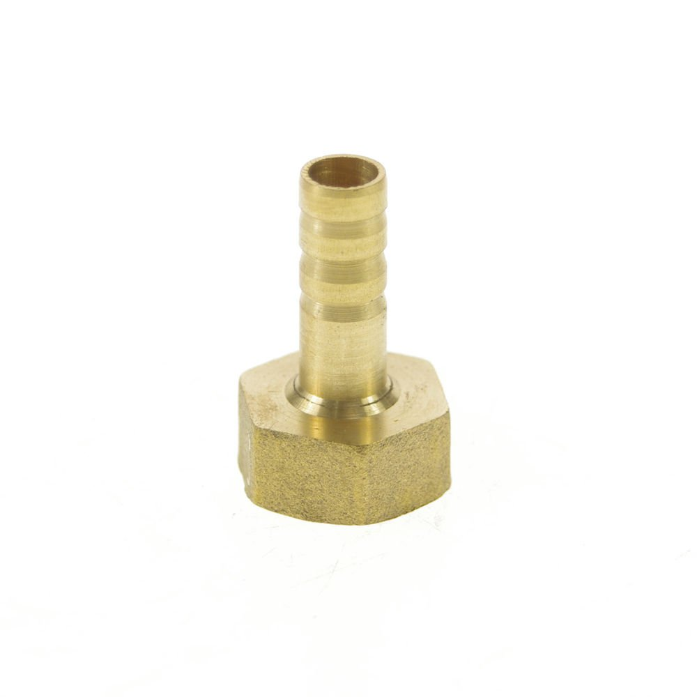 """5pcs 1/2"""" BSPP Connect Female-8mm barbeded Hose Brass Pipe Connector Adapter"""