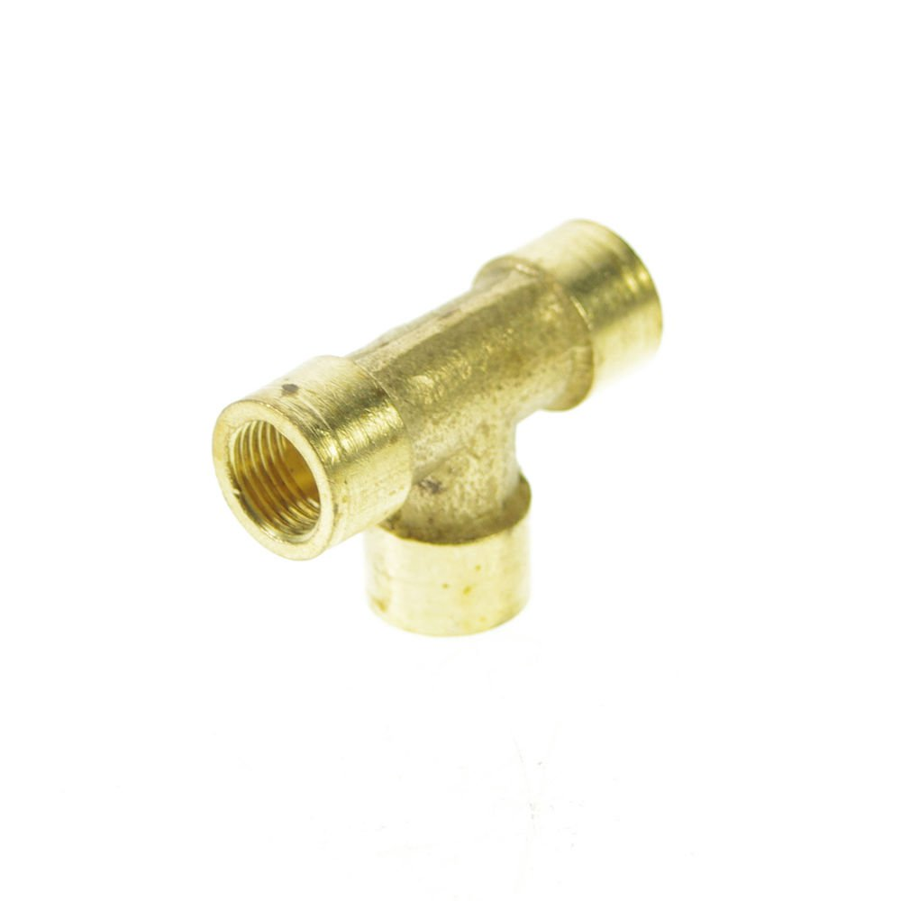 """2PCS 3 Ways 1/8"""" Tee Female BSPP Connection Brass Coupler Adapter"""