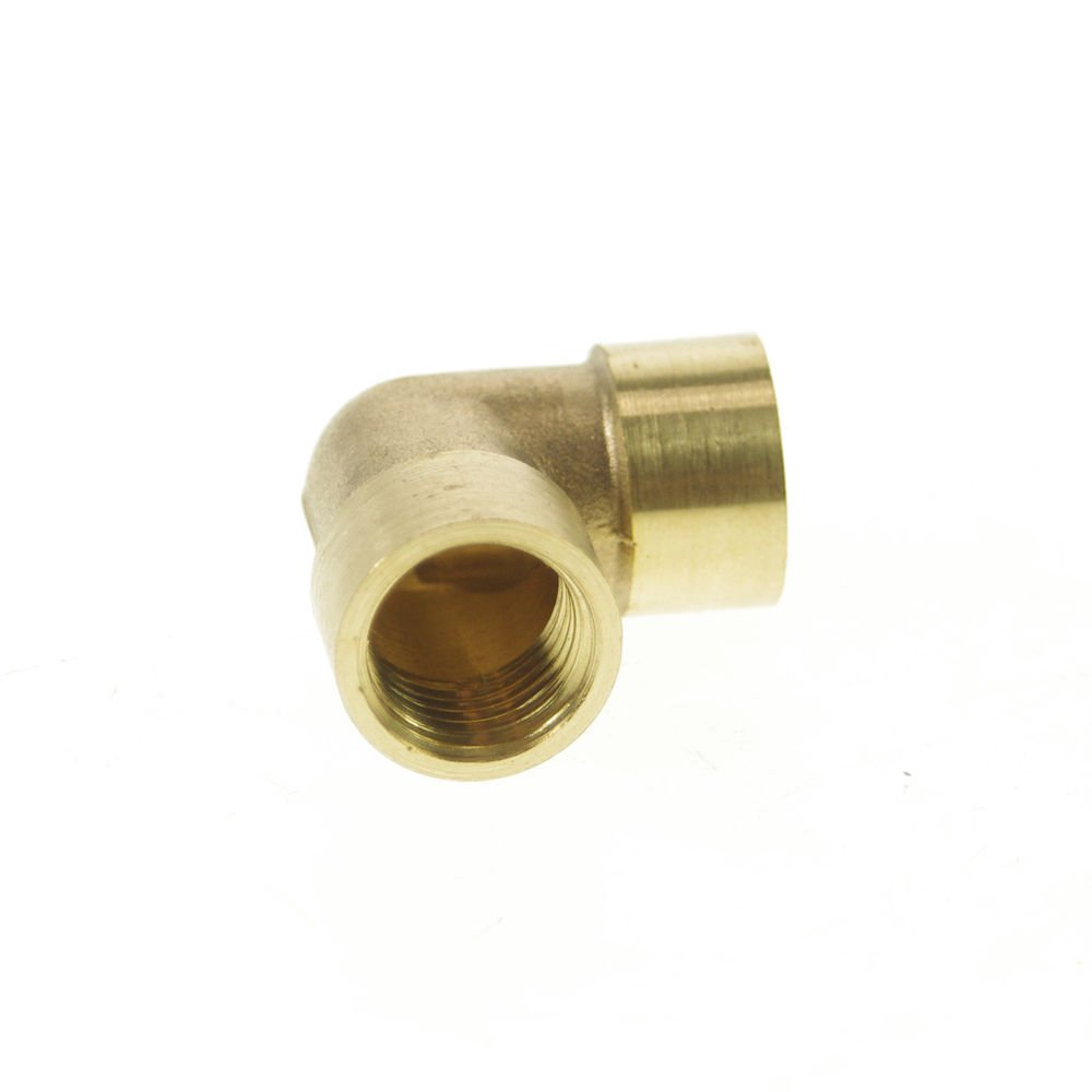 """2 PCS 1/4"""" BSPP Elbow Female Pipe Brass Adapter Coupler"""