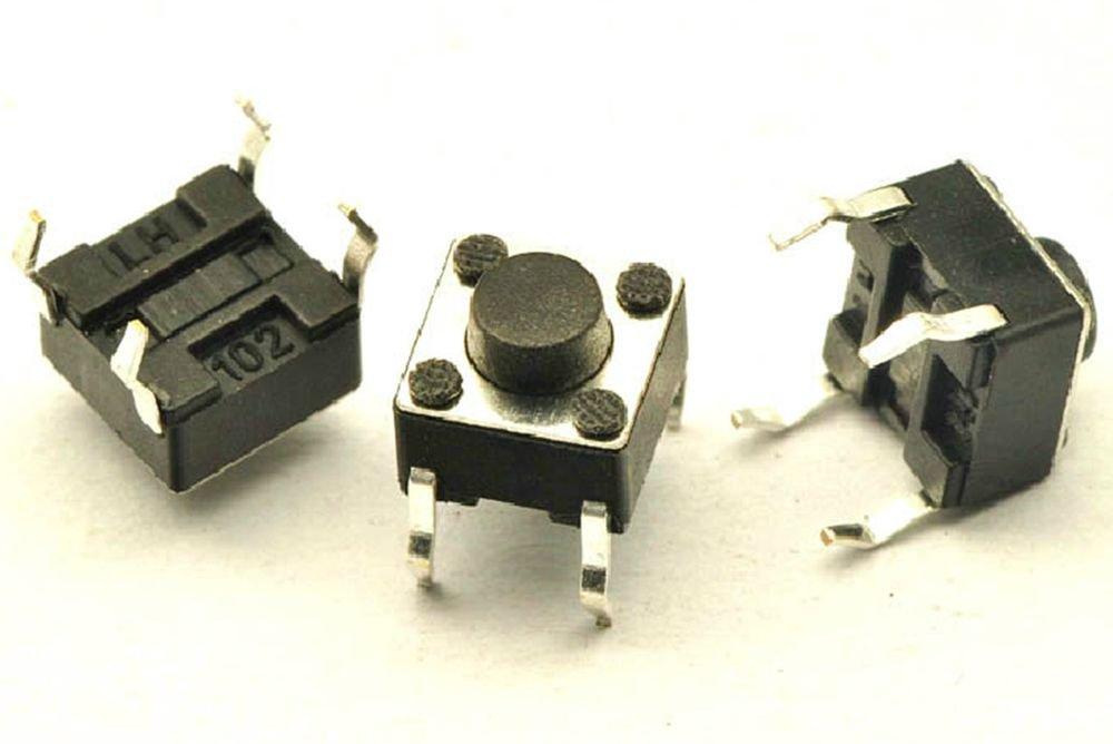 20 pcs 6 x 6 x 6mm PCB Momentary Tactile Tact Push Button Switch 4 Pin DIP