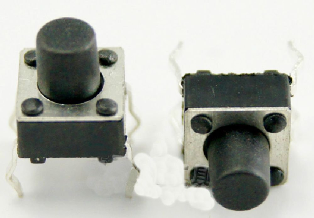 20 pcs 6 x 6 x 11mm PCB Momentary Tactile Tact Push Button Switch 4 Pin DIP