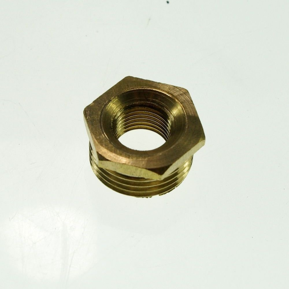 "2PCS Brass 1/2"" Male x 1/4"" BSPP Female Adapter Reducer"