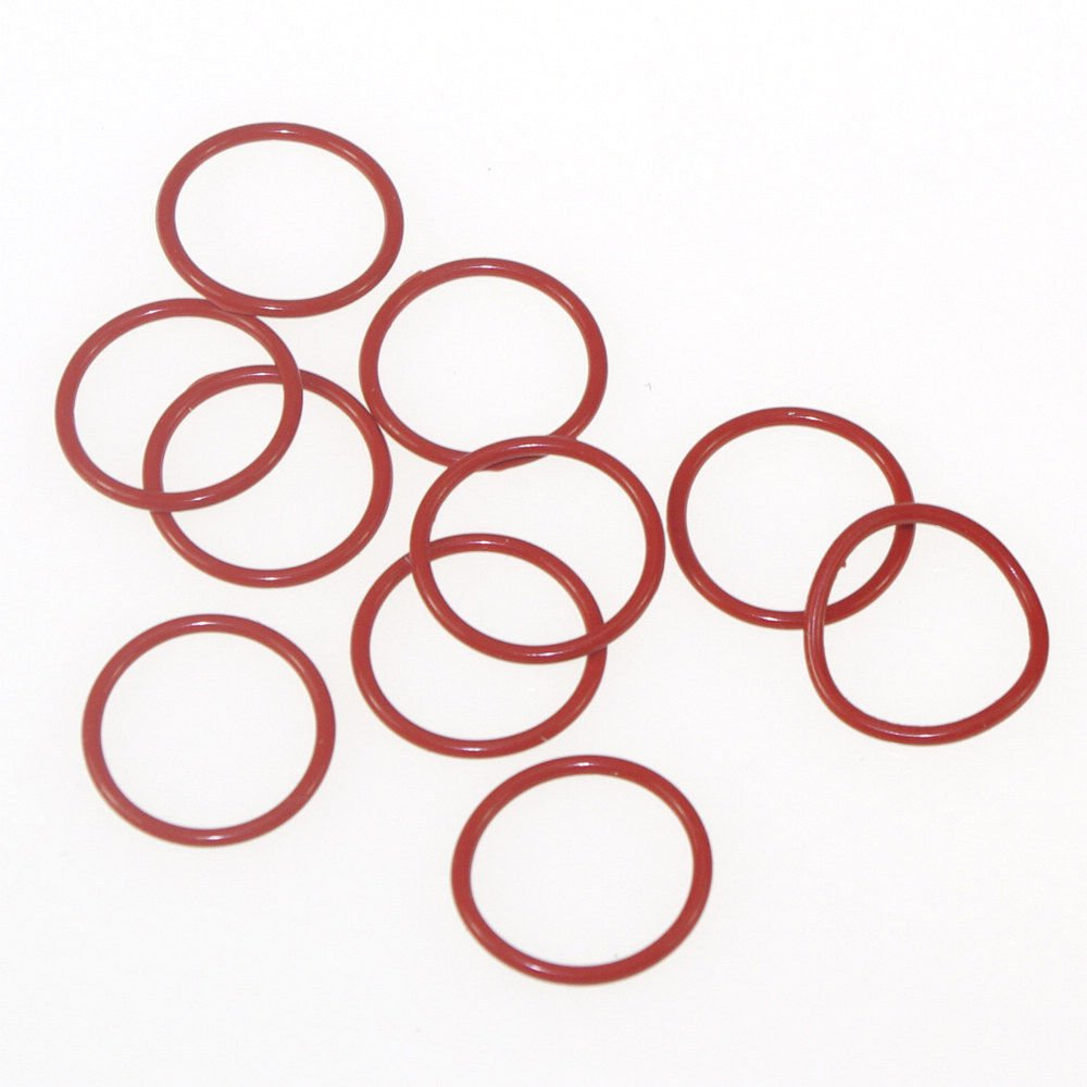 10PCS Silicone Rubber Red VMQ 145*3.5mm-230*3.5mm Seal Rings O-Rings