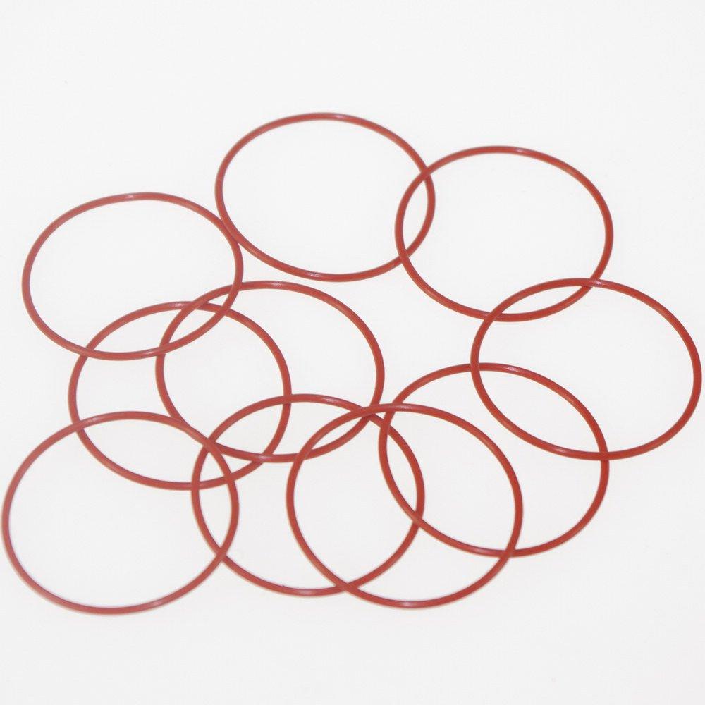 50PCS Silicone Rubber VMQ Inside Diameter2.8*1.8mm-57*1.8mm Seal Rings O-Rings