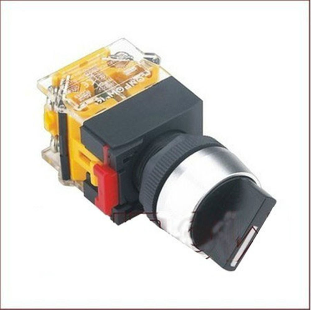 1PCS 22mm round selector select switch 3 position latching Maintain 2 NO A3Y