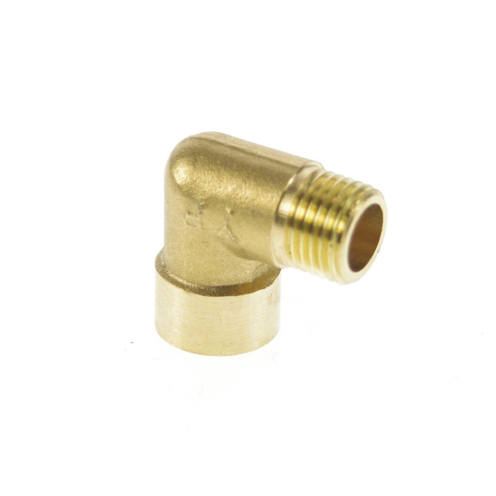 """5PCS 1/4"""" BSPP Connection Elbow Female-Male Pipe Brass Adapter Coupler Connector"""