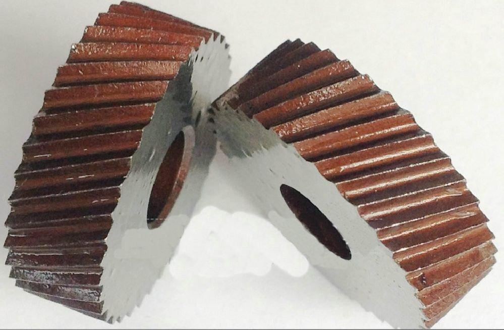 2PCS 1.0mm Pitch 8mm(ID)*28mm(OD)*8mm(H) Diagonal Wheel Knurling Linear