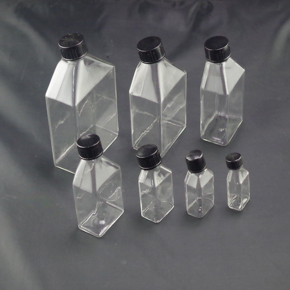 lot12 50ml Tissue culture flask cell culture flask with bevel screw cap