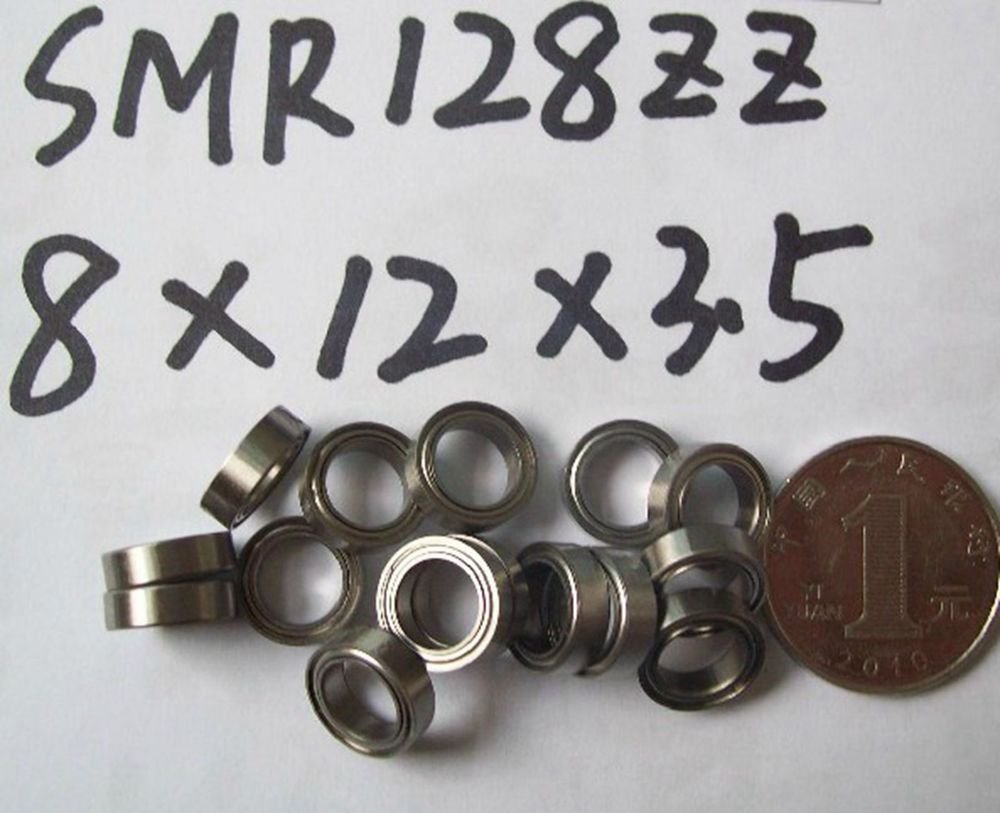 8*12*3.5mm SMR128ZZ shielded deep groove Thin-Section Radial stainless Bearing