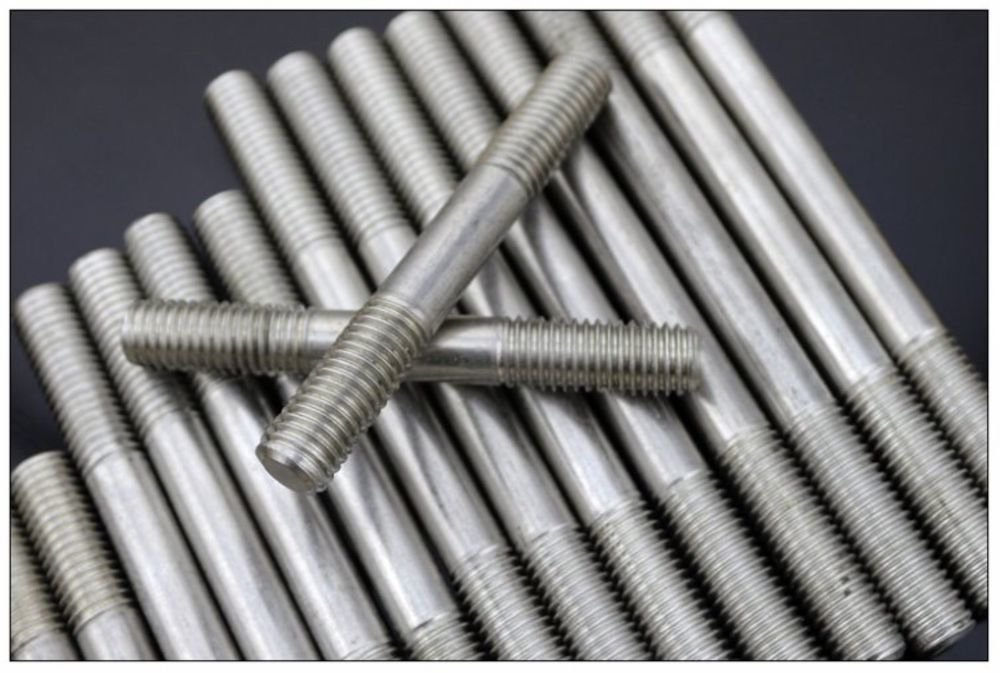 (10) Metric Thread M6*60 mm 304 Stainless Steel Studs Double thread