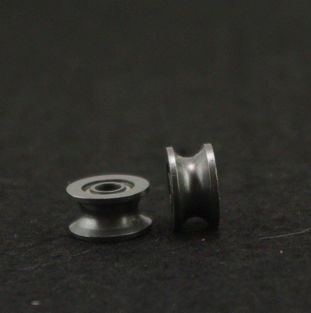 (10)4x13x7mm 624UU 4mm U Groove Guide Pulley Sealed Rail Ball Bearing  4*13*7