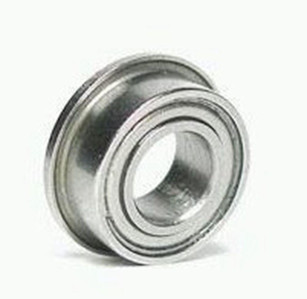 10pcs 4 x 12 x 4mm F604zz  Shielded Flanged Model Ball Flange Bearing 4*12*4