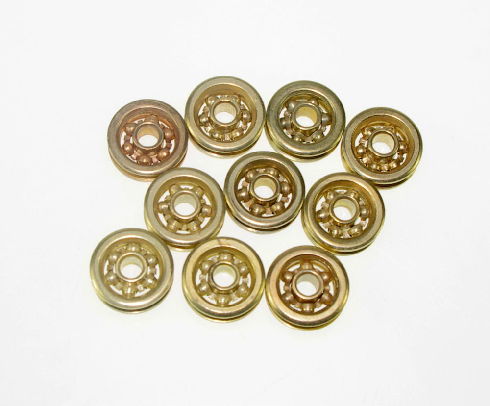 (10)5*20*6.6mm 0520 5mm Groove Guide Pulley Sealed Rail Ball Bearing 5*20*6.6