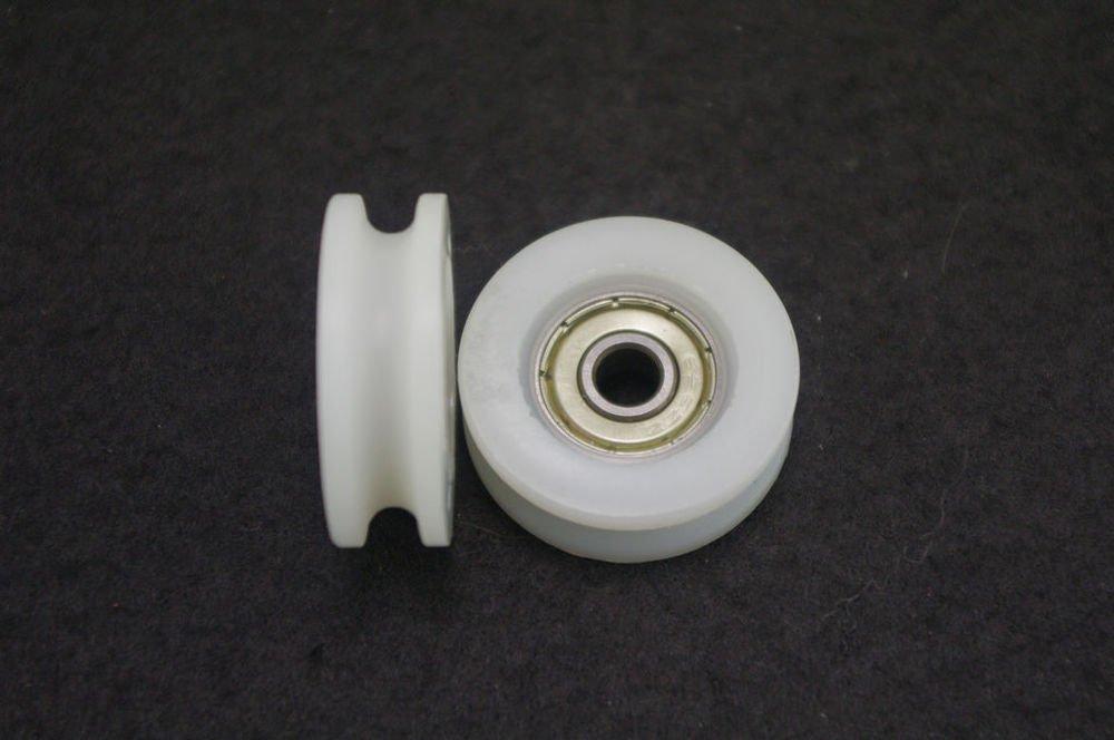 (10)6*32*10mm 0632UU 6mm U Groove Guide Pulley Sealed Rail Ball Bearing 6*32*10