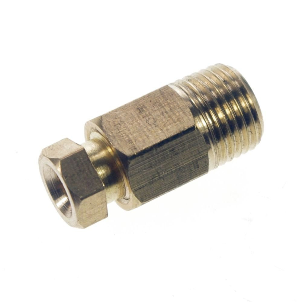 """5PCS 1/4"""" Male 8mm Straight Brass Connector Machine Tool Oil Filter Canister"""