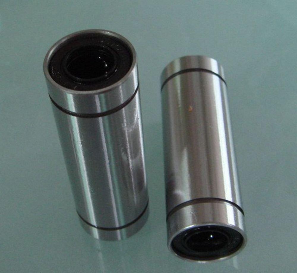 (2) Round Long Type LM 25LUU 25*40*112mm CNC Linear Motion Metal Shield Bearing