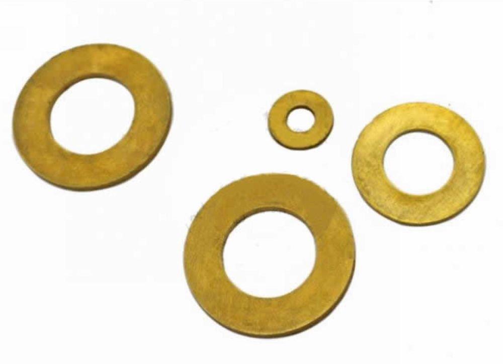 (100) Standard Metric Brass Flat Thick Washers M3(ID)x 6(OD)x 0.5mm Thick