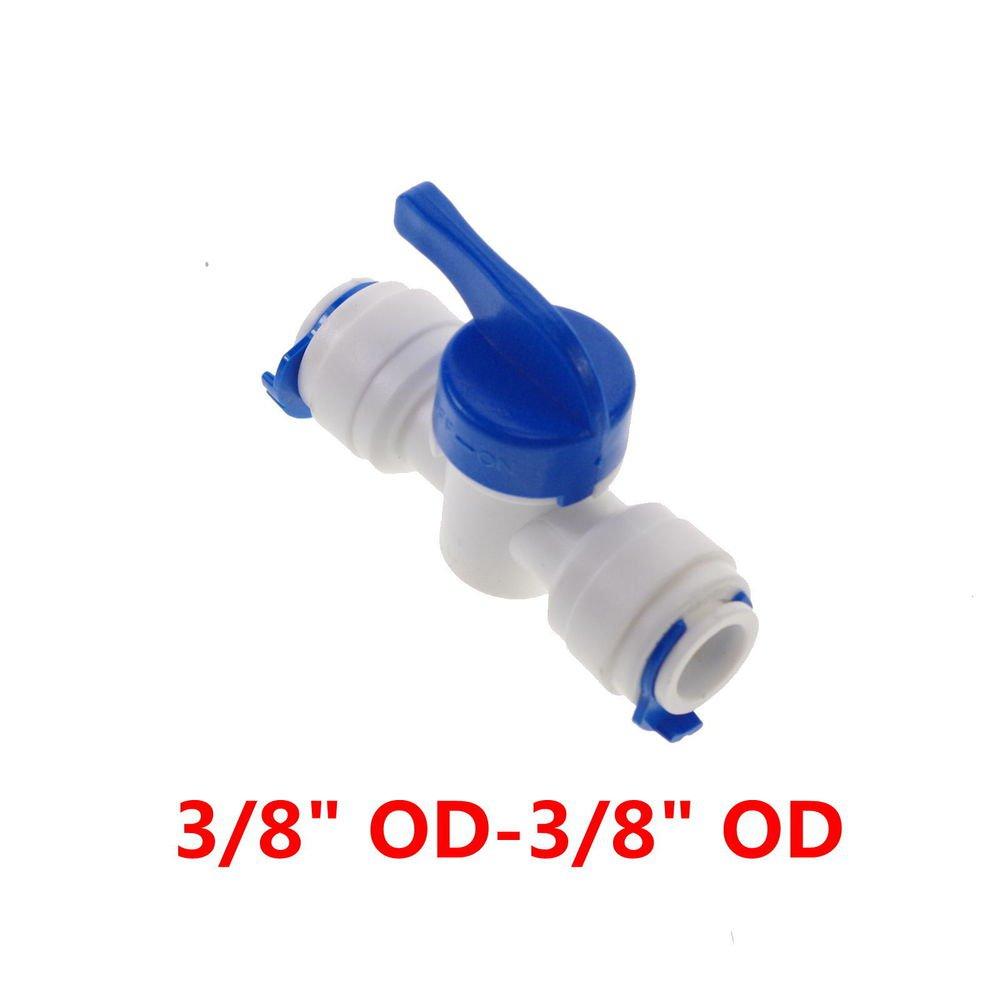 5pcs  Equal Straight 3/8� OD Tube Ball Valve Quick Connect Aquarium RO Water