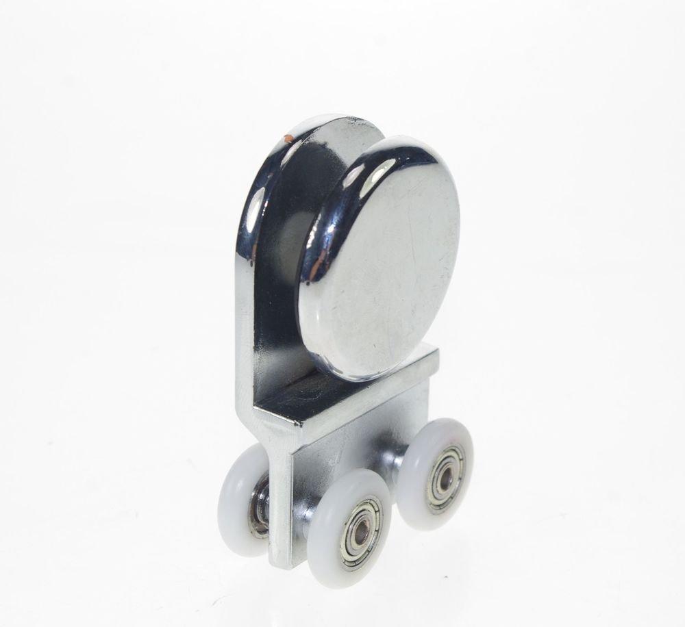 20mm Dia Handing Wheels Pulley Metal Alloy Shower Room Door Roller Runner