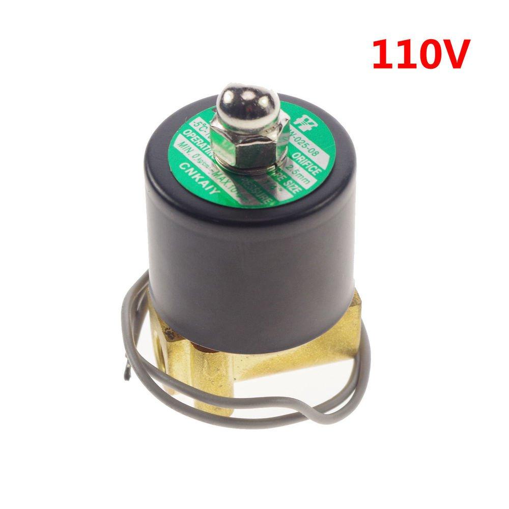 "110VAC Water Air Gas Fuel NC Solenoid Valve 1/8"" BSPP"