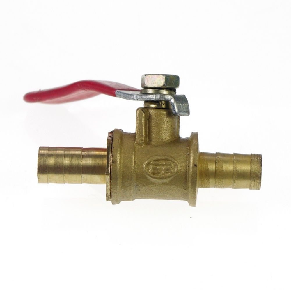 Brass Pipe Ball Valve 12mm Full Ports Hose barbed x Hose barbed