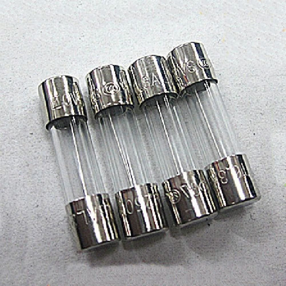 10 pieces 250V 125mA Slow Blow 5x20mm Glass Tube Fuses